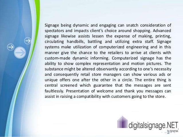 The uses of digital signage retail Slide 3