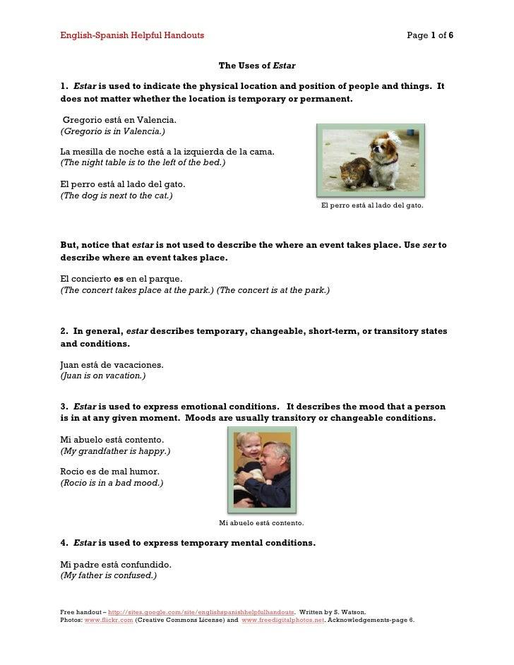English-Spanish Helpful Handouts                                                                      Page 1 of 6         ...
