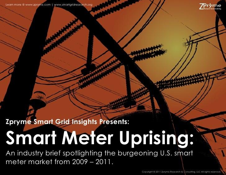 Learn more @ www.zpryme.com | www.smartgridresearch.orgZpryme Smart Grid Insights Presents:Smart Meter Uprising:An industr...