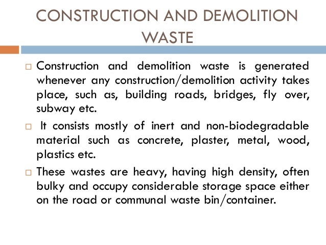 The utilisation of waste material in the road for Use of waste material