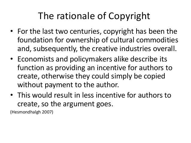A Practical Argument against Copyright Protection
