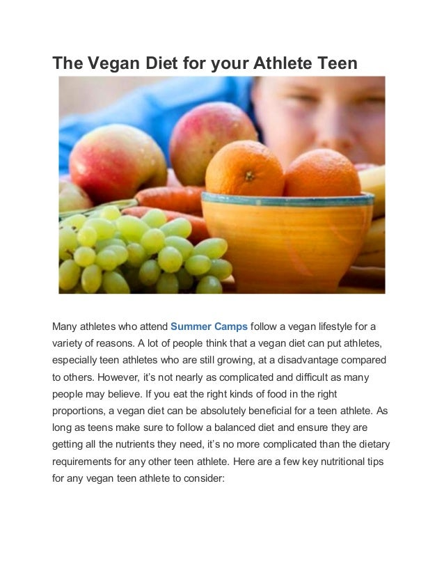 Diet for teen athlete