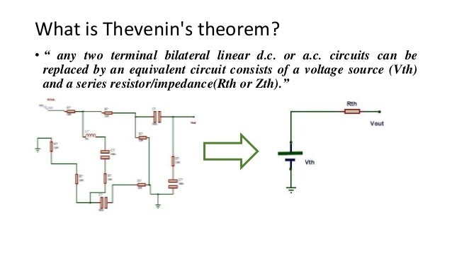 Introduction to Thevenin's theorem