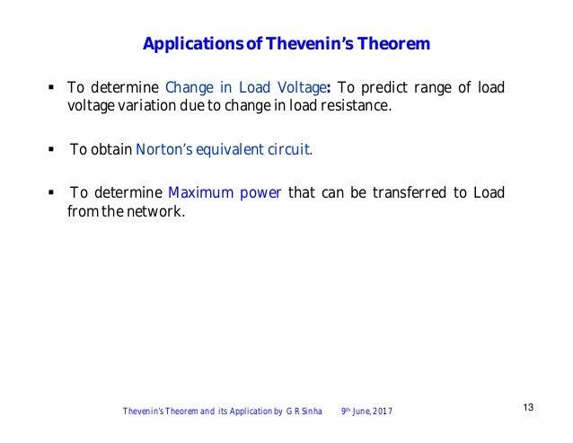 thevenin theorem applications