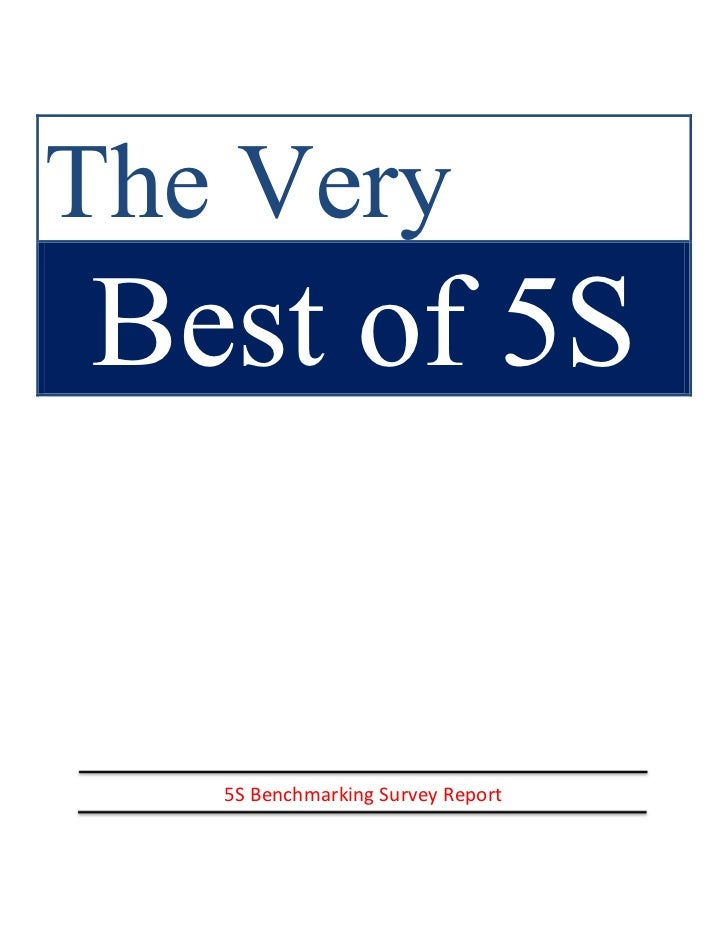 The VeryBest of 5S   5S Benchmarking Survey Report