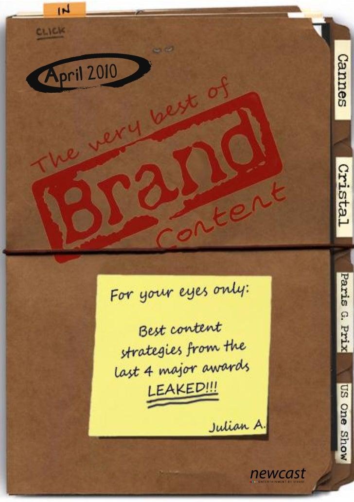 The very best of     Brand Content 2010 I            IIIII           IV