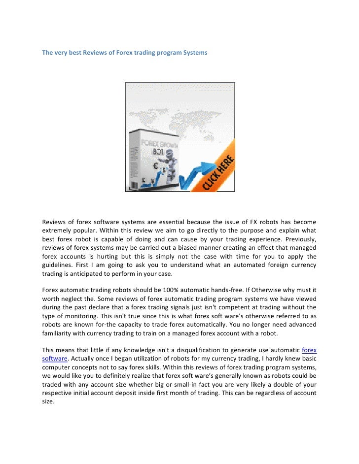 Forex trading program reviews