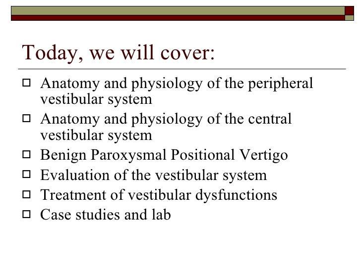 The vestibular system part 1