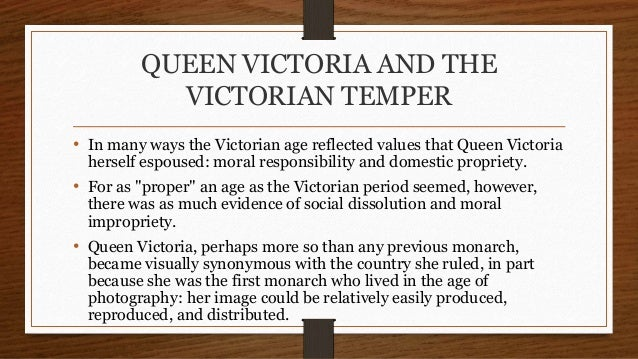 Social responsibility in the victorian era