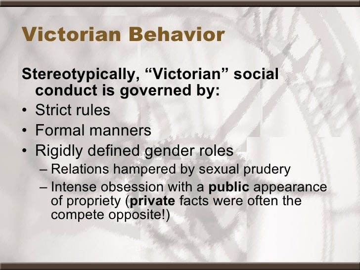 Gender roles and sexuality in victorian era