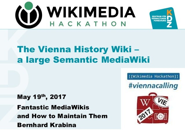 www.kdz.or.atwww.kdz.or.at The Vienna History Wiki – a large Semantic MediaWiki May 19th, 2017 Fantastic MediaWikis and Ho...