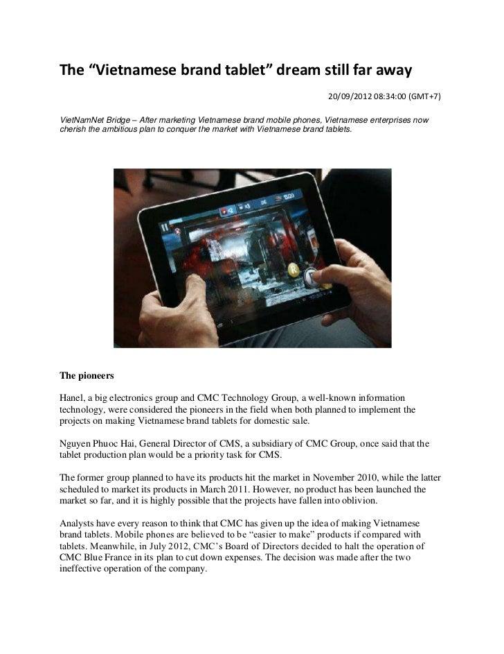 "The ""Vietnamese brand tablet"" dream still far away                                                                    20/0..."