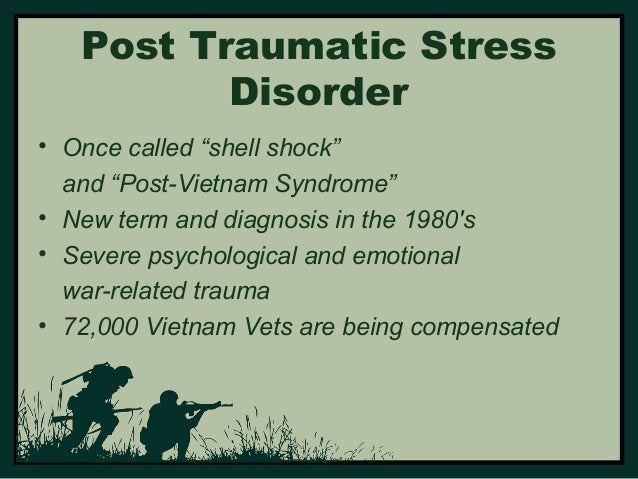 post traumatic stress disorder of world war The present case study describes a typically complex clinical presentation of chronic post-traumatic stress disorder (ptsd) suffered by a second world war veteran and advises on multi-disciplinary out-patient management extending to acute hospital care limited symptomatic impact of psychological and.