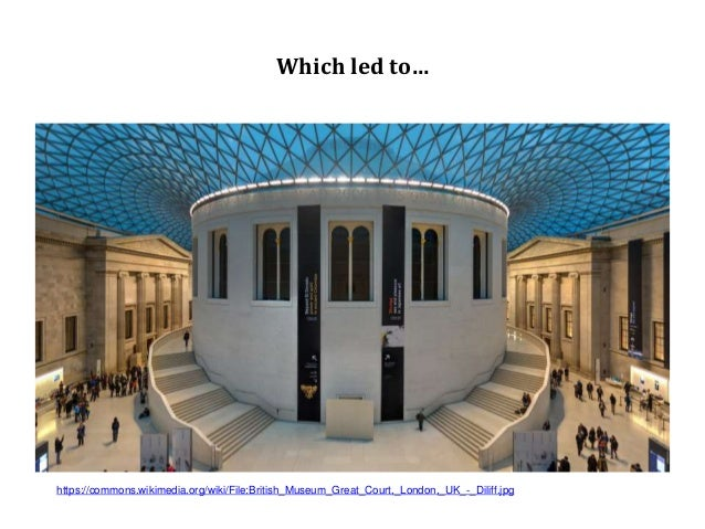 Which led to… https://commons.wikimedia.org/wiki/File:British_Museum_Great_Court,_London,_UK_-_Diliff.jpg