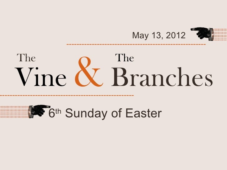 May 13, 2012                          -------------------------------------------------------      Vine & Branches      Th...