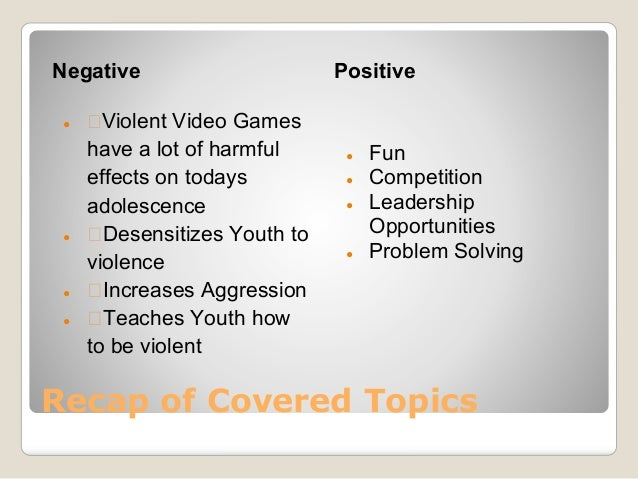 the negative effects of violent video games on todays children The dialogue spoken amongst children who play violent video games such as call negative effects of technology on children how technology effects children.
