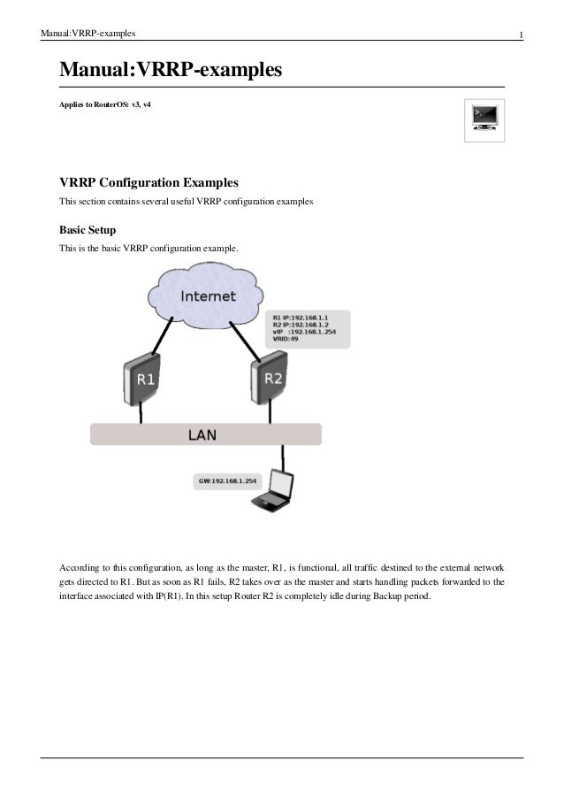 Manual:VRRP-examples                                                                                                      ...