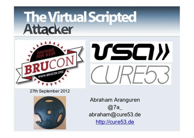 27th September 2012                      Abraham Aranguren                              @7a_                      abraham@...