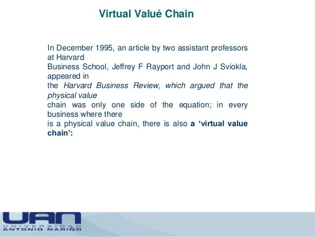 Value chains real or virtual