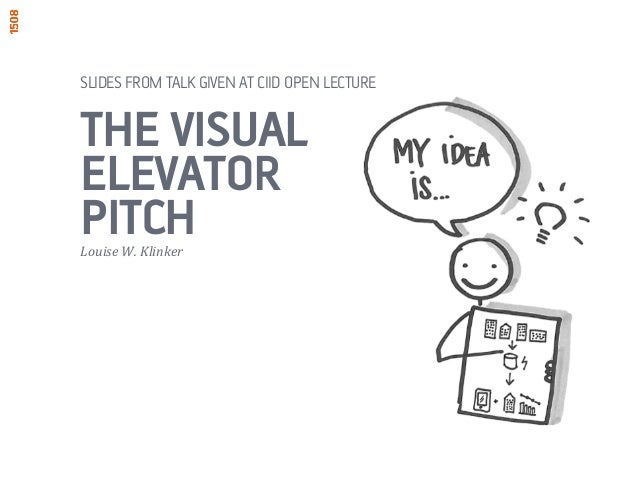 SLIDES FROM TALK GIVEN AT CIID OPEN LECTURE  THE VISUAL  ELEVATOR  PITCH  Louise  W.  Klinker