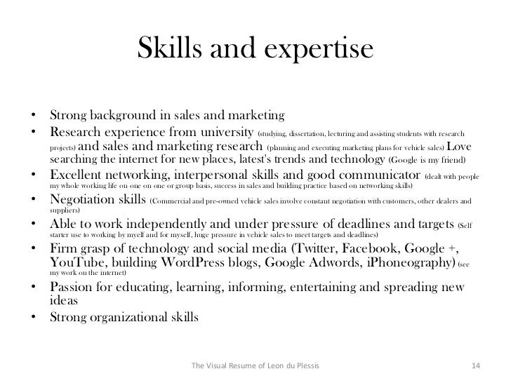 sales and marketing skills for resume a good resume example
