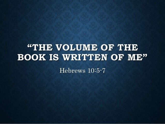 Volume Of The Book