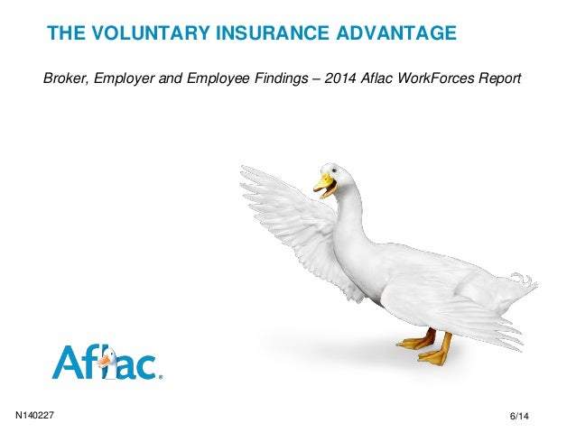 THE VOLUNTARY INSURANCE ADVANTAGE Broker, Employer and Employee Findings – 2014 Aflac WorkForces Report N140227 6/14