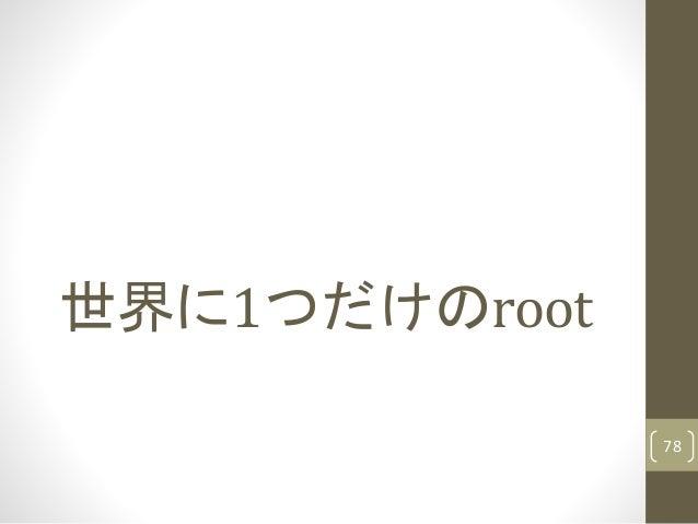 世界に1つだけのroot 78