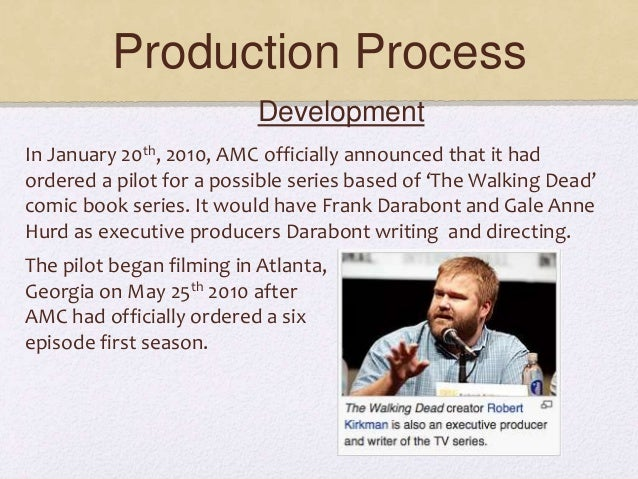 Production Process In January 20th, 2010, AMC officially announced that it had ordered a pilot for a possible series based...