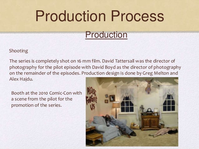 Production Process Production Shooting The series is completely shot on 16 mm film. David Tattersall was the director of p...