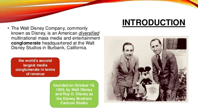 an introduction to the history of the walt disney company Introduction when walt disney's  loved to draw, (life history of walt disney) he was born on  popular film that helped keep the walt disney company from.