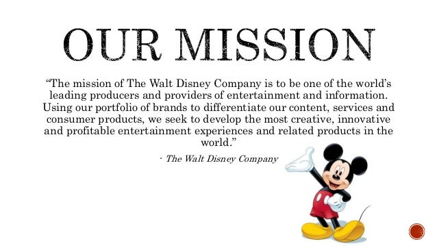 walt disney worlds mission essay 2009/1/3  best answer: actually, only disneyland is 'the happiest place on earth' folks tend to confuse that with wdw however where the magic kingdom is actually 'the most magical place on earth' walt disney's disneyland dedication speech includes the.