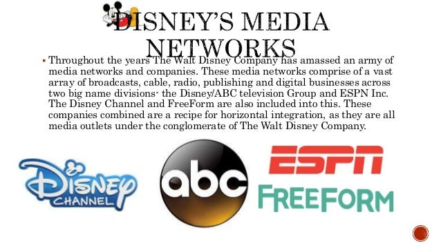 media conglomerate walt disney company essay While many books have been written about the disney media machine, this book  is the first to chronicle and document the disney company's trends and.