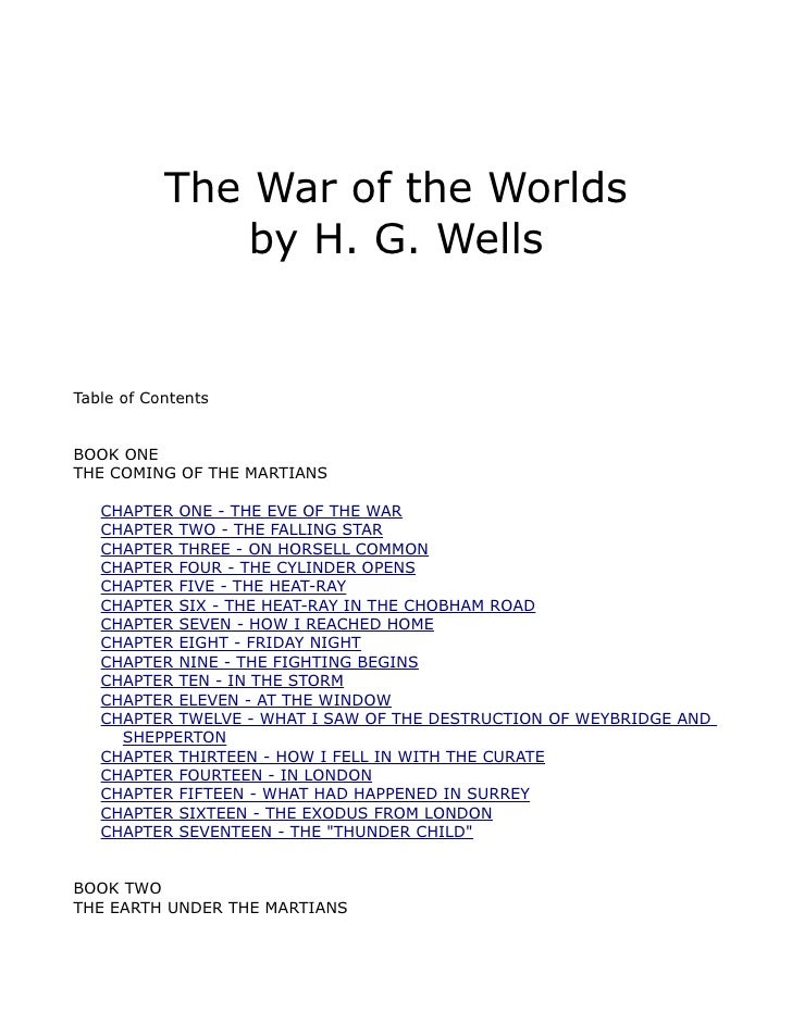 a belief of supremacy in war of the worlds by h g wells Compare book prices from over 100,000 booksellers find the war of the worlds (penguin classics) (0141441038) by hg wells.