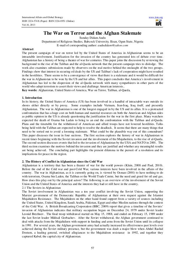 International Affairs and Global Strategy ISSN 2224-574X (Paper) ISSN 2224-8951 (Online) Vol.16, 2013  www.iiste.org  The ...