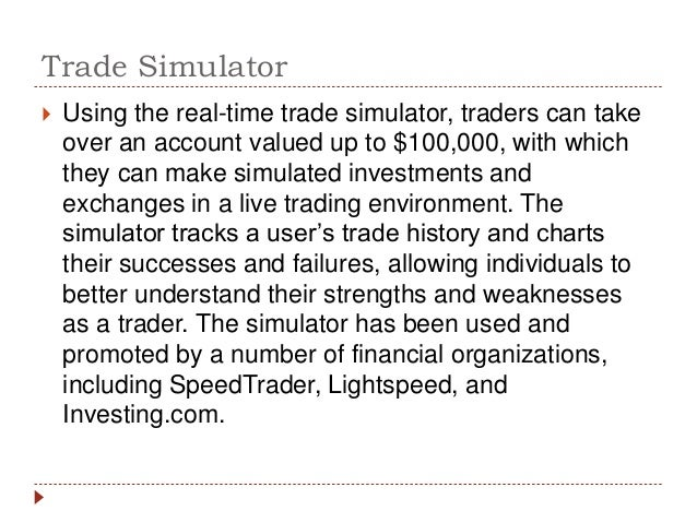 market simulation essay Essay preview: simulation prev next report this essay tweet related essays analysis of the stock market simulation analysis of the stock market simulation there are many risks that people take in their lives yet, investing in the stock market is one of 1,296 words | 6 pages.