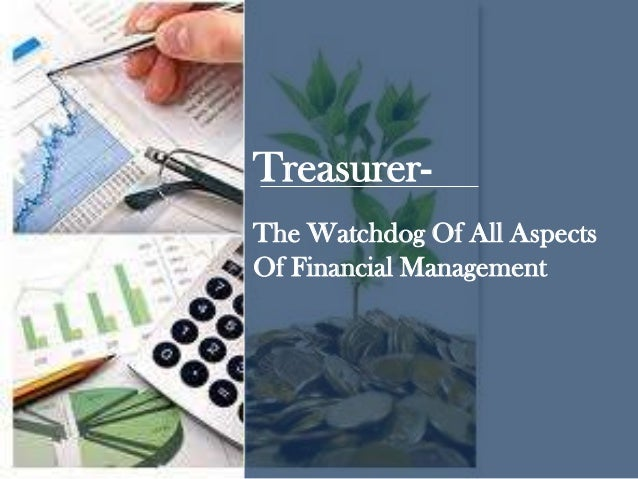 The Watchdog Of All Aspects Of Financial Management Treasurer-