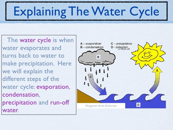 Explain water cycle with diagram online schematic diagram the water cycle rh slideshare net explain the water cycle wing with suitable diagram explain water cycle with the aid of a diagram ccuart Choice Image