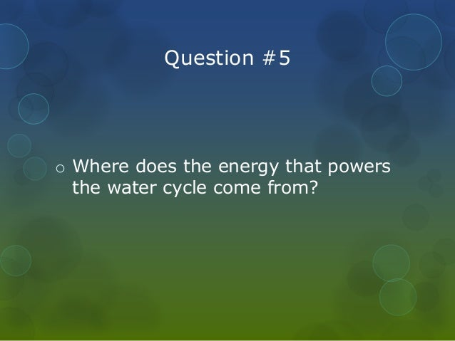 The water cycle pp