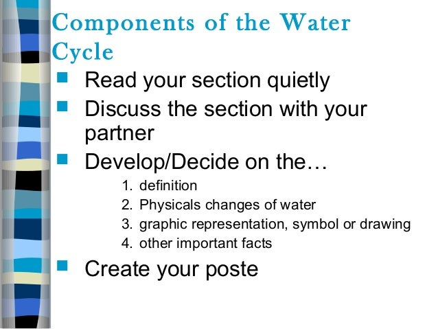 15 ANTICIPATORY GUIDE Agree Disagree 5 The Water Cycle Begins In