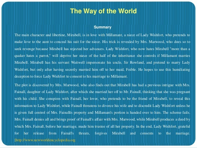 the way of the world summary