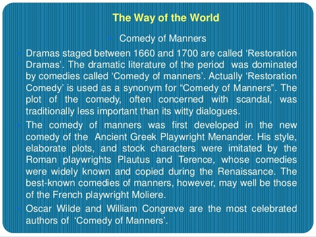 the way of the world characters