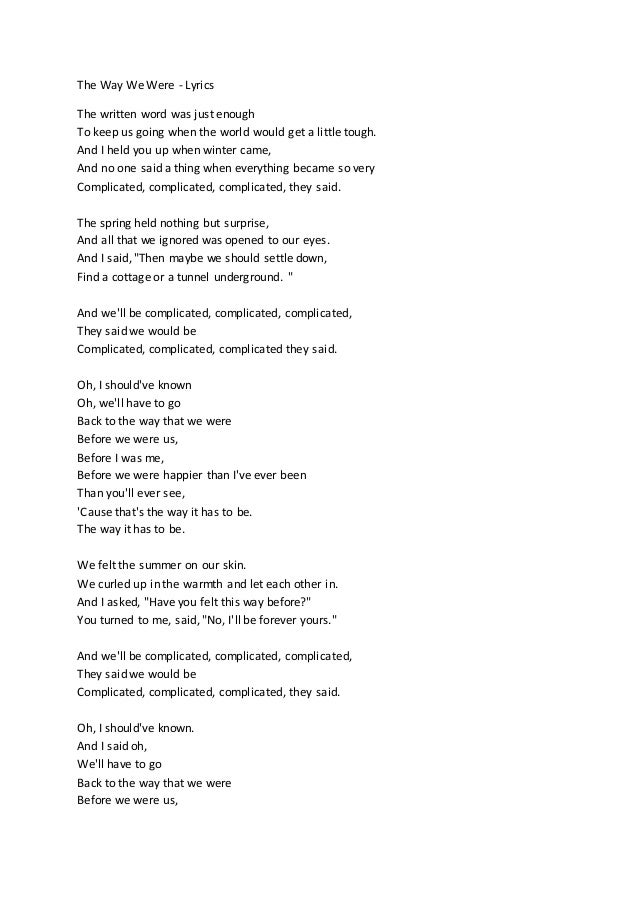 Lyric all i know lyrics : The Way We Were - Lyrics (Unedited)