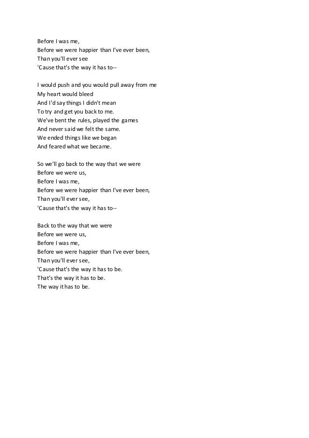 The Way We Were - Lyrics (Unedited)