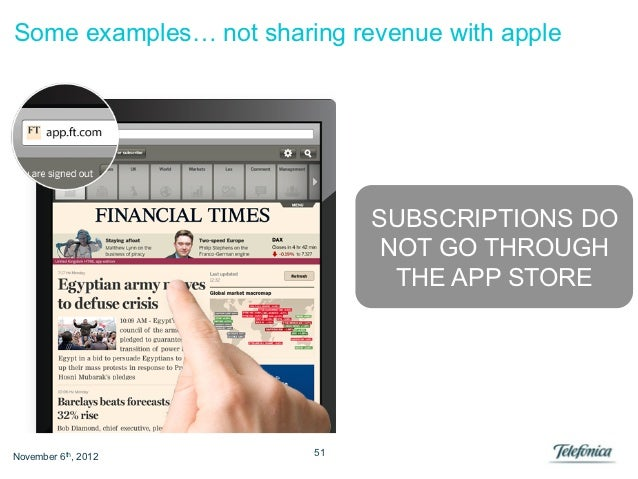 Some examples… not sharing revenue with apple                             SUBSCRIPTIONS DO                              NO...