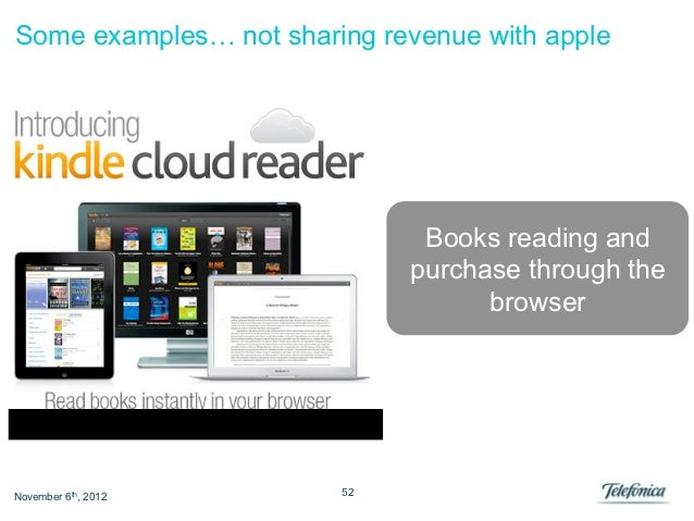 Some examples… not sharing revenue with apple                              Books reading and                             p...
