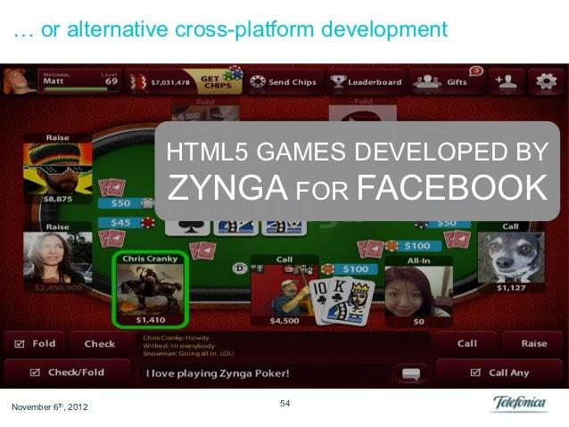 … or alternative cross-platform development                     HTML5 GAMES DEVELOPED BY                     ZYNGA FOR FAC...
