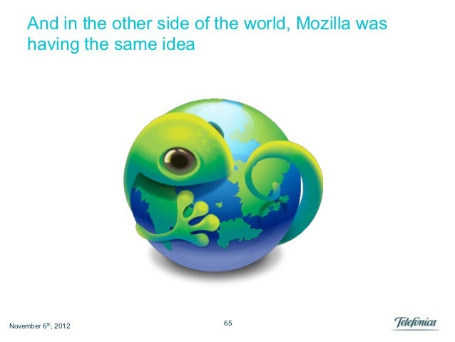 And in the other side of the world, Mozilla was     having the same ideaNovember 6th, 2012            65