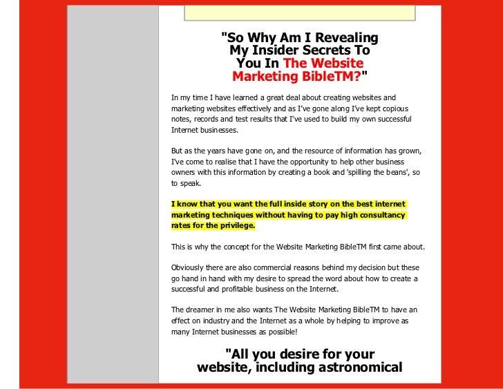 The website marketing bible one of the best internet marketing stra sharon gaskin winning training and development 38 fandeluxe Gallery