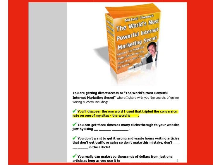 The website marketing bible one of the best internet marketing stra 47 fandeluxe Gallery